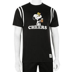 NWOT HUF X Peanuts Snoopy Cheers Beer Tee Shirt